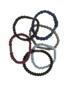 Pack de 6 coleteros elásticos con tejido texturizado