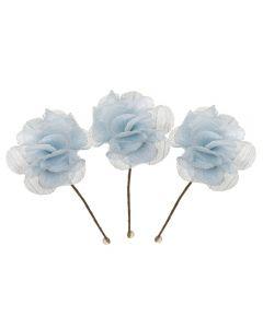 Pack de 3 florecitas para peinado-Azul Celeste