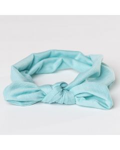 Turbante para bebé con lazo anudado-Azul Celeste