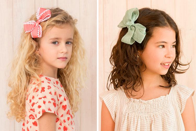 niñas peinadas con lazos mariposa