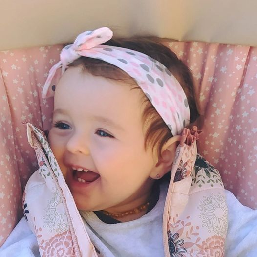 turbante para bebe rosa