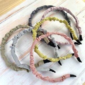diadema de vichy fruncida colores